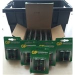 GP Zinc chloride batteries C 1.5V pack of 2 x 15 Best Before 2013 *Clearance*