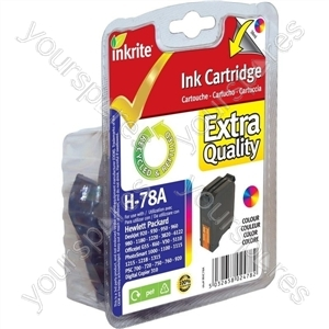 Inkrite NG Ink Cartridges (HP 78) for HP Deskjet 920 930 1180 6122 OfficeJet G55 G85 - C6578A Clr