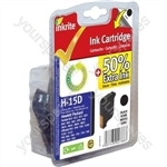 Inkrite NG Ink Cartridges (HP 15) for HP Deskjet 810 840 920 3810 OfficeJet V30 V40 - C6615D Black