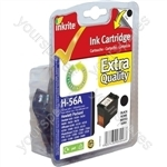 Inkrite NG Ink Cartridges (HP 56) for HP DeskJet 450 5550 9600 OfficeJet 4210 5500 - C6656A Black