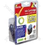 Inkrite NG Ink Cartridges (HP 49) for HP Deskjet 350 600 610 660 - 51649A Clr