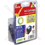 Inkrite NG Ink Cartridges (HP 57) for HP DeskJet 450 5550 OfficeJet 4105 5505 - C6657A Clr