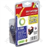 Inkrite NG Ink Cartridges (HP 58) for HP DeskJet 5550 5850 9600 PhotoSmart 7x00 PSC1110 - C6658A Clr