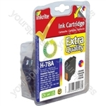 Inkrite NG Ink Cartridges (HP 78) for HP Deskjet 920 930 1180 6122 OfficeJet G55 G85 - C6578A Clr