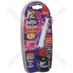 JR Inkjet Printer Ink Cartridge Refill Kit | Magenta | 30ml