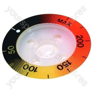 Zanussi Temperature Control Knob Indicator Disc