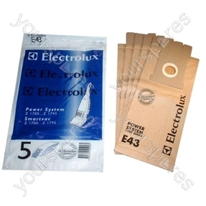 Electrolux Paper Vacuum Bag - Pack of 5 (E43)