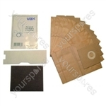 Vax Paper Bag & Filter Kit (Pack of 10)