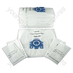 Pack Of 10 Miele Vacuum Bags Type GN + Filters *Free Delivery*