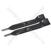 "2 x Flymo Lawnmower Metal Blade - 32cm (13"") FLY046"